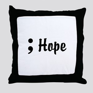 Hope Semicolon Throw Pillow