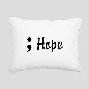 Hope Semicolon Rectangular Canvas Pillow