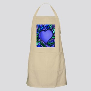 Blue Stained Glass Heart Apron
