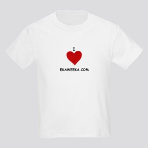 I LOVE EKAWEEKA.COM Kids Light T-Shirt