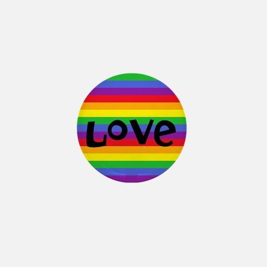 love rainbow accessories Mini Button