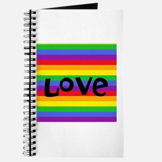 love rainbow accessories Journal