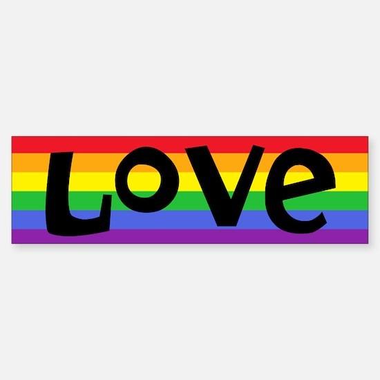 Cute Rainbow equal rights Sticker (Bumper)
