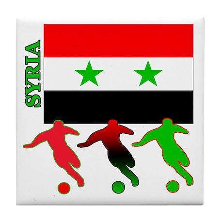 Syria Soccer Tile Coaster