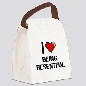 I Love Being Resentful Digitial D Canvas Lunch Bag