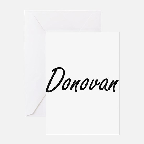Donovan surname artistic design Greeting Cards