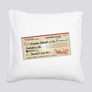 Paid in Full Square Canvas Pillow