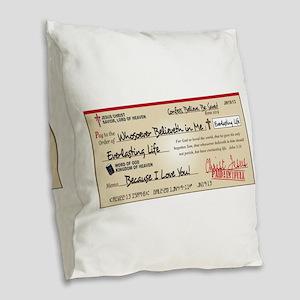 Paid in Full Burlap Throw Pillow