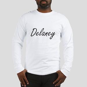Delaney surname artistic desig Long Sleeve T-Shirt