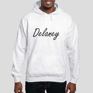 Delaney surname artistic design Hooded Sweatshirt