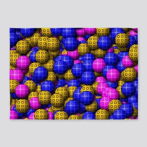 Patterned Balls 5'x7'Area Rug