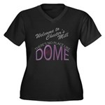 Under the Do Women's Plus Size V-Neck Dark T-Shirt