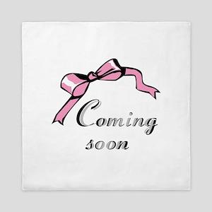Pink/Coming Soon Queen Duvet