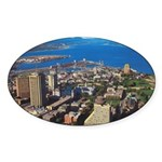 Greater Quebec Area Oval Sticker