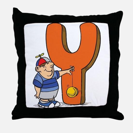 Y For Yoyo Throw Pillow