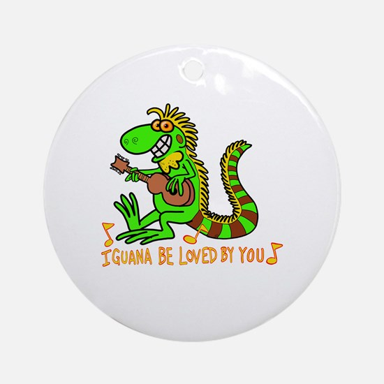 Unique Iguana Round Ornament
