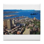 Greater Quebec Area with Sign Tile Coaster