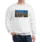 Greater Quebec Area with Sign Sweatshirt