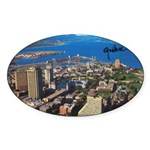 Greater Quebec Area with Sign Oval Sticker