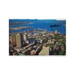 Greater Quebec Area with Sign Rectangle Magnet (10