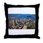 Greater Quebec Area with Sign Throw Pillow
