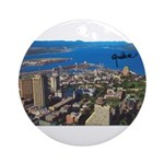 Greater Quebec Area with Sign Ornament (Round)