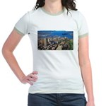 Greater Quebec Area with Sign Jr. Ringer T-Shirt