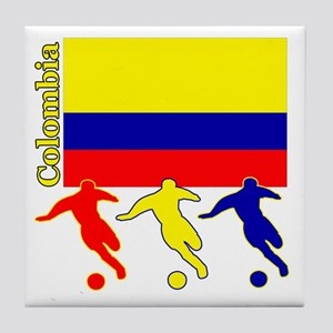 Colombia Soccer Tile Coaster