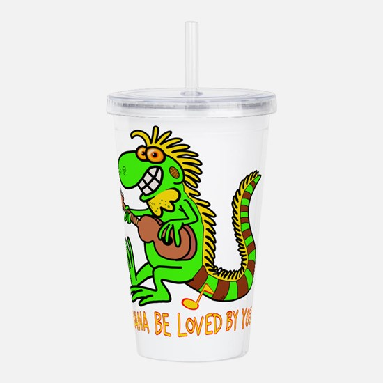 I want to be loved by Acrylic Double-wall Tumbler