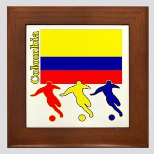Colombia Soccer Framed Tile
