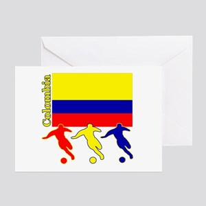 Colombia Soccer Greeting Cards (Pk of 10)