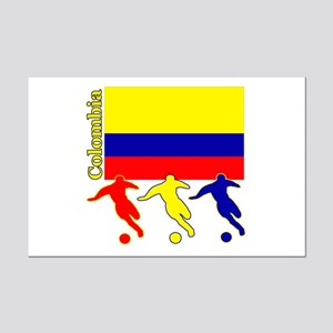 Colombia Soccer Mini Poster Print