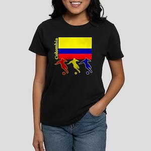 Colombia Soccer Women's Dark T-Shirt