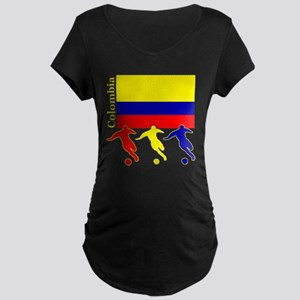 Colombia Soccer Maternity Dark T-Shirt