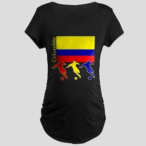 Colombia Soccer Maternity Dark T-Shirt