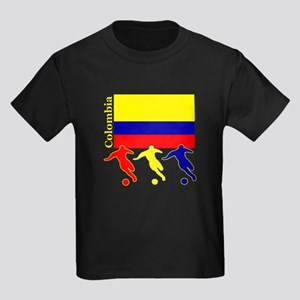 Colombia Soccer Kids Dark T-Shirt