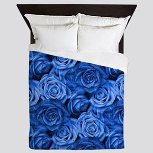 Blue Roses Queen Duvet