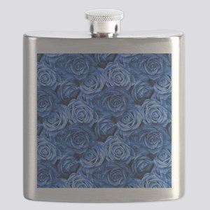 Blue Roses Flask