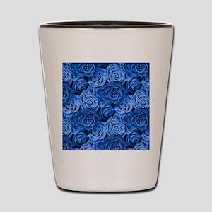 Blue Roses Shot Glass