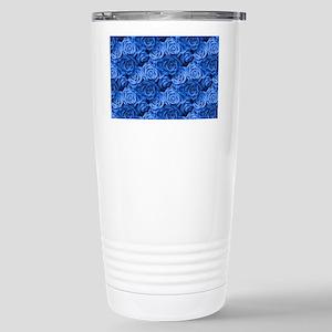 Blue Roses Stainless Steel Travel Mug