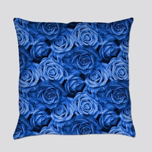 Blue Roses Everyday Pillow