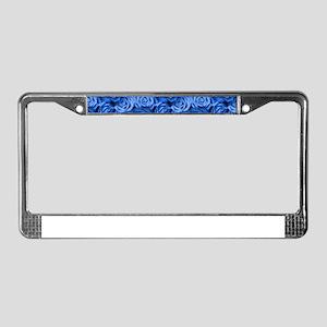 Blue Roses License Plate Frame