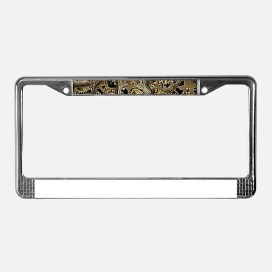 Insinde the Machine License Plate Frame