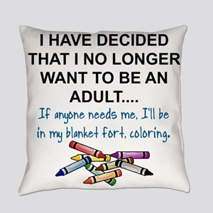 COLORING - I HAVE DECIDED THAT I N Everyday Pillow