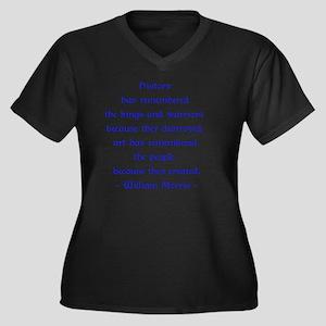 William Morr Women's Plus Size V-Neck Dark T-Shirt