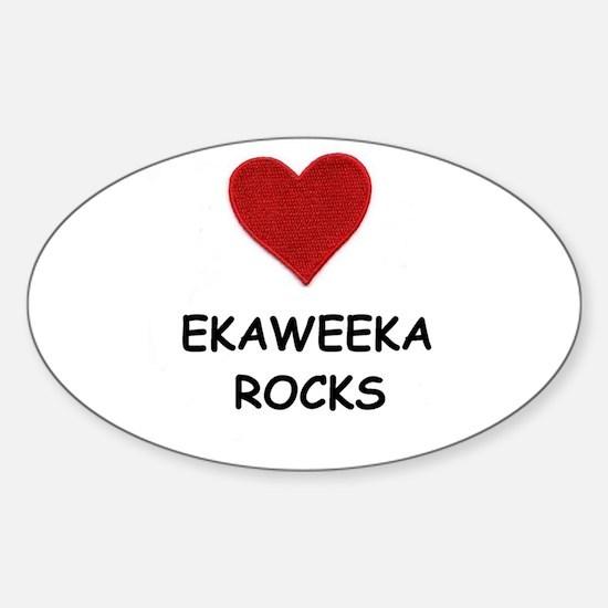 EKAWEEKA ROCKS Oval Decal