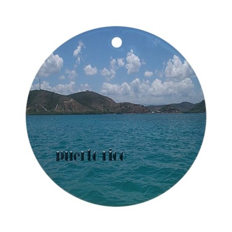 Puerto Rico Beach Ornament (Round)