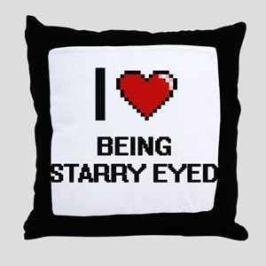 I love Being Starry-Eyed Digitial Des Throw Pillow