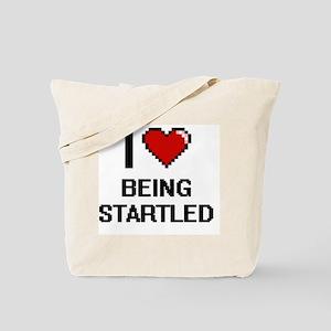 I love Being Startled Digitial Design Tote Bag