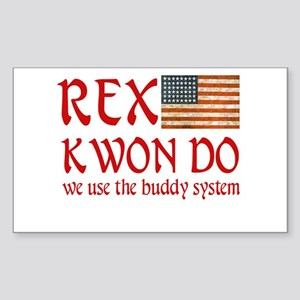 Rex Kwon Do Rectangle Sticker